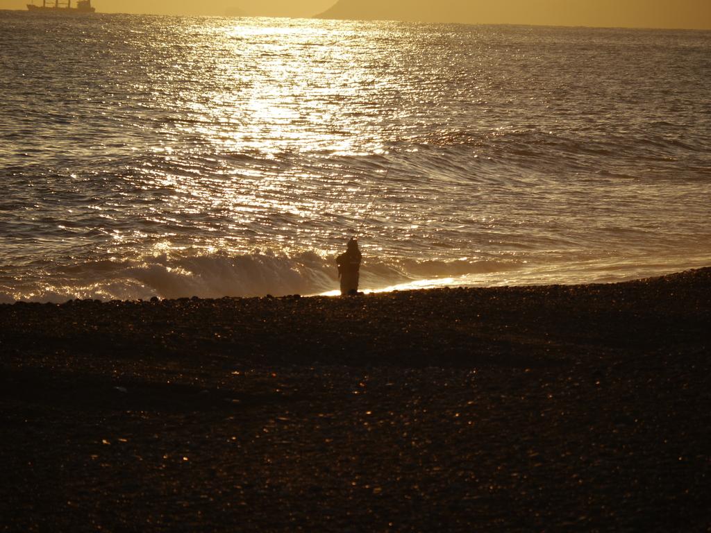 夕景 釣り人
