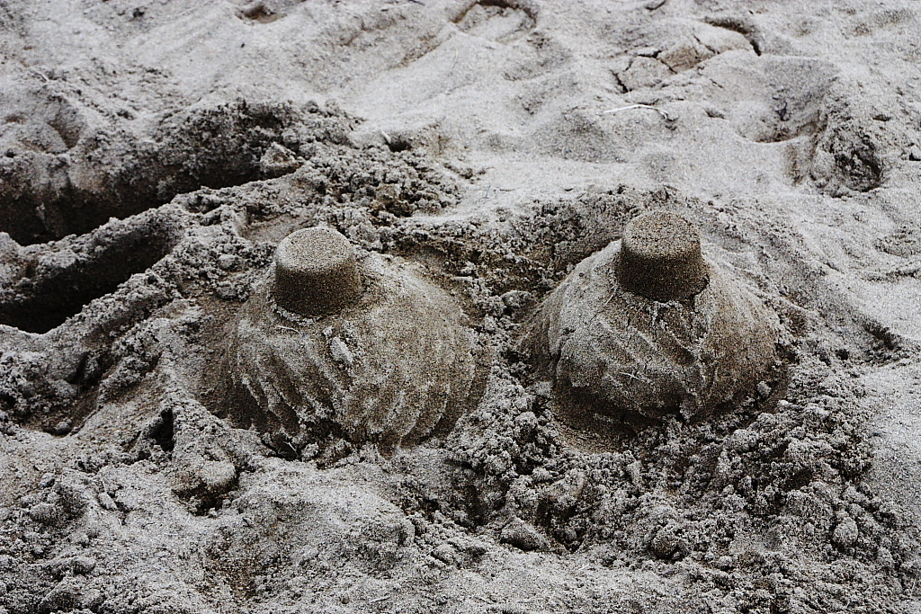 砂場のアート