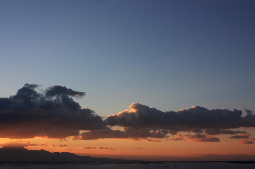 有明海と雲仙と、時々、日の入り。