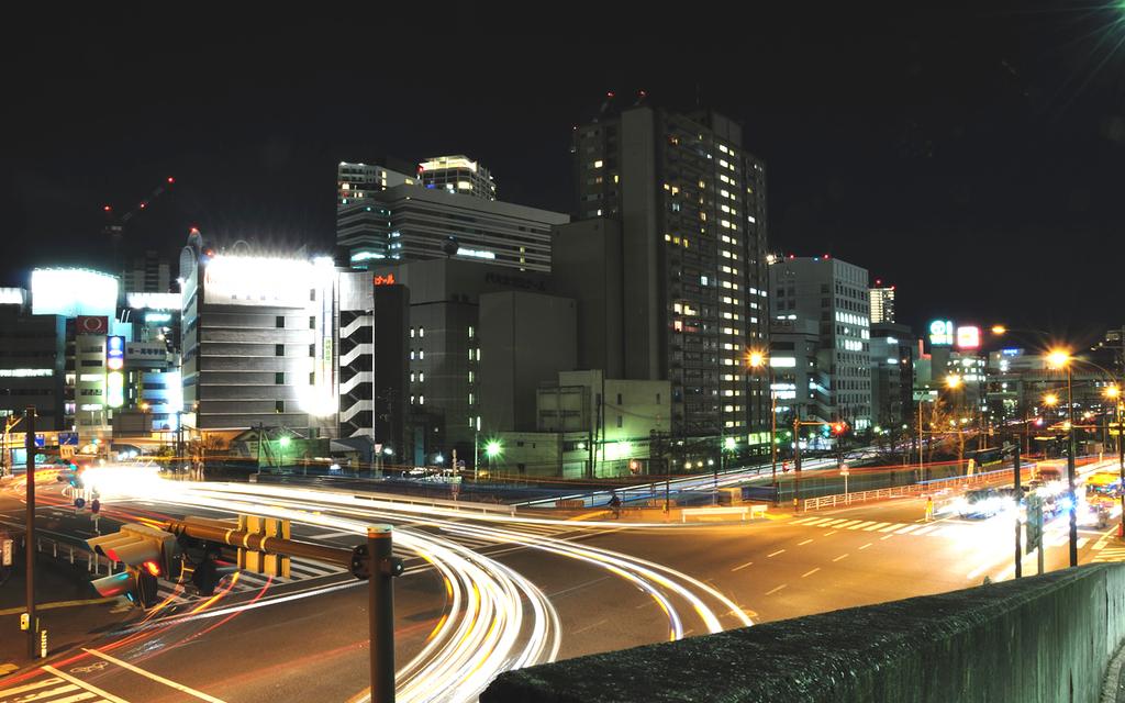 青木橋夜景