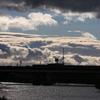 雲に襲われる街