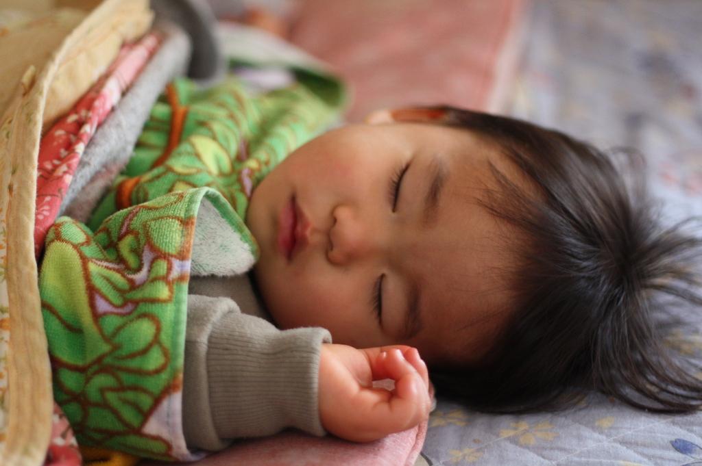 天使の寝顔・・・。