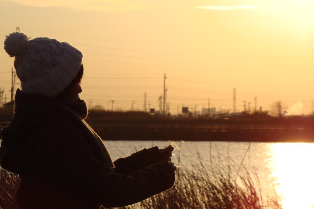 牛久沼の夕日