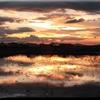 鏡に映る夕日IMG_1245