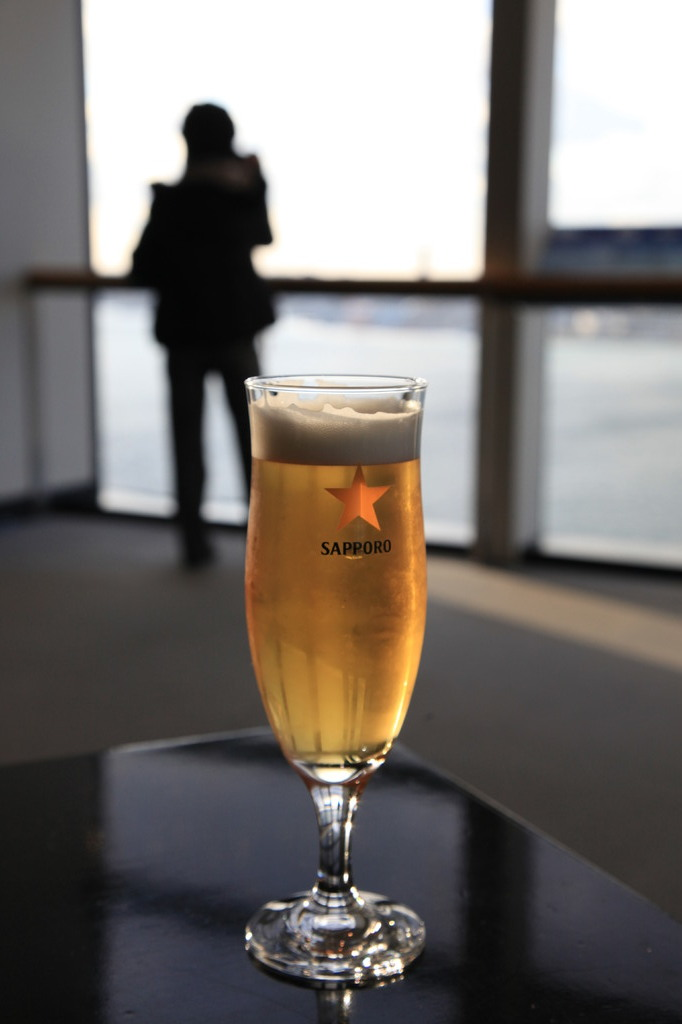真冬にビール