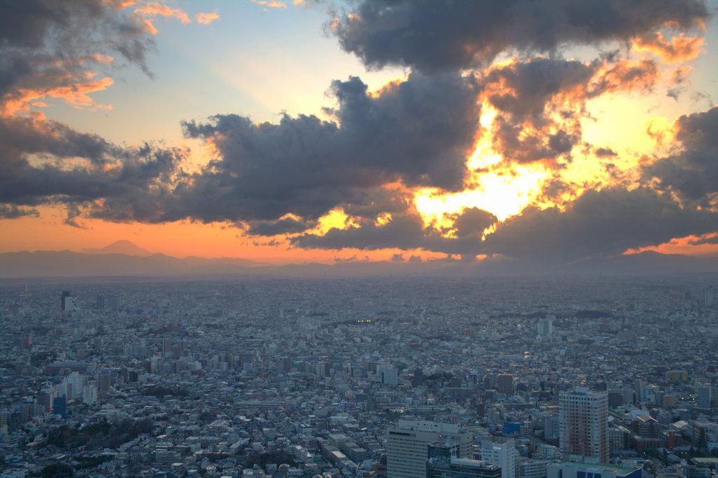 関東平野・黄昏時
