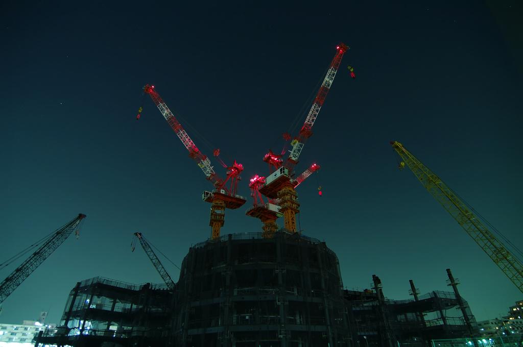 東京スカイツリー建設中(09.03.24)