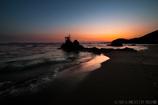 煌めく浜辺の陽