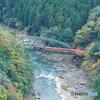 トロッコ電車と保津峡