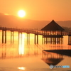 津軽富士見湖の夜明け-Ⅱ