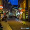 アムステルダムの夜の街角