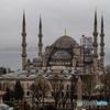 ブルー・モスク 冷たい雨に濡れて!