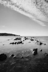 加太の海、秋の空