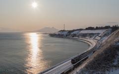 カシオペアの朝 2(北海道横断ひと休みの景色)