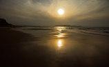 Golden sunset beach