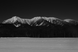 モノクロームの名山   三題   八ヶ岳
