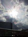 2016/10/18_JR奈良駅前の天使の梯子