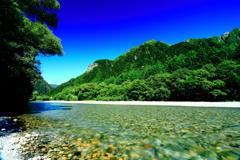 瑠璃の空と翡翠の梓川3