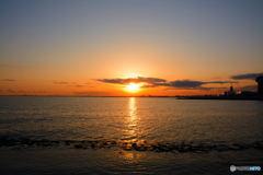 舞浜の夕景