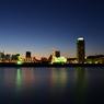 グラデーションと神戸の夜景
