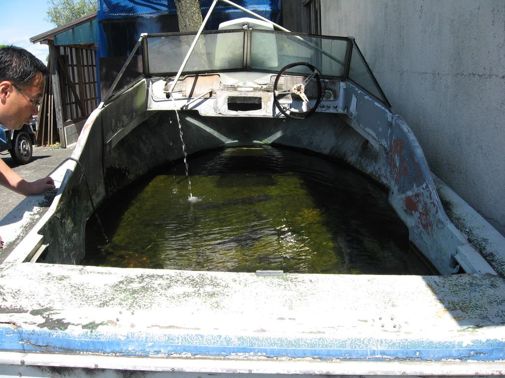 船の中の池
