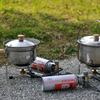 キャンプの朝ご飯