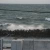 御前崎 荒れる海