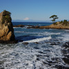 立石と富士