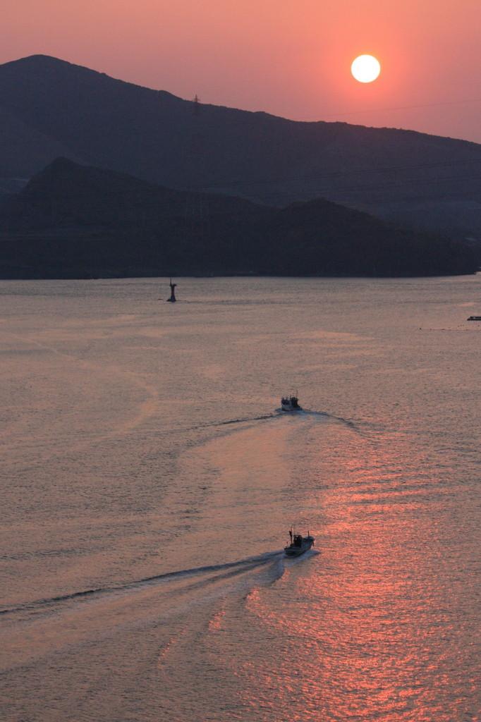 鳥羽湾、早朝