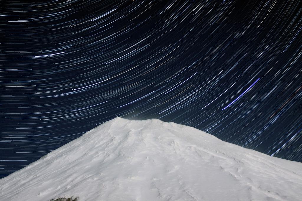 富士山頂&星