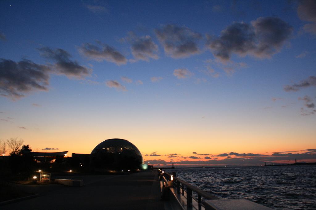 南港の夕焼け