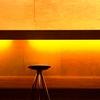 Bar in the orange light