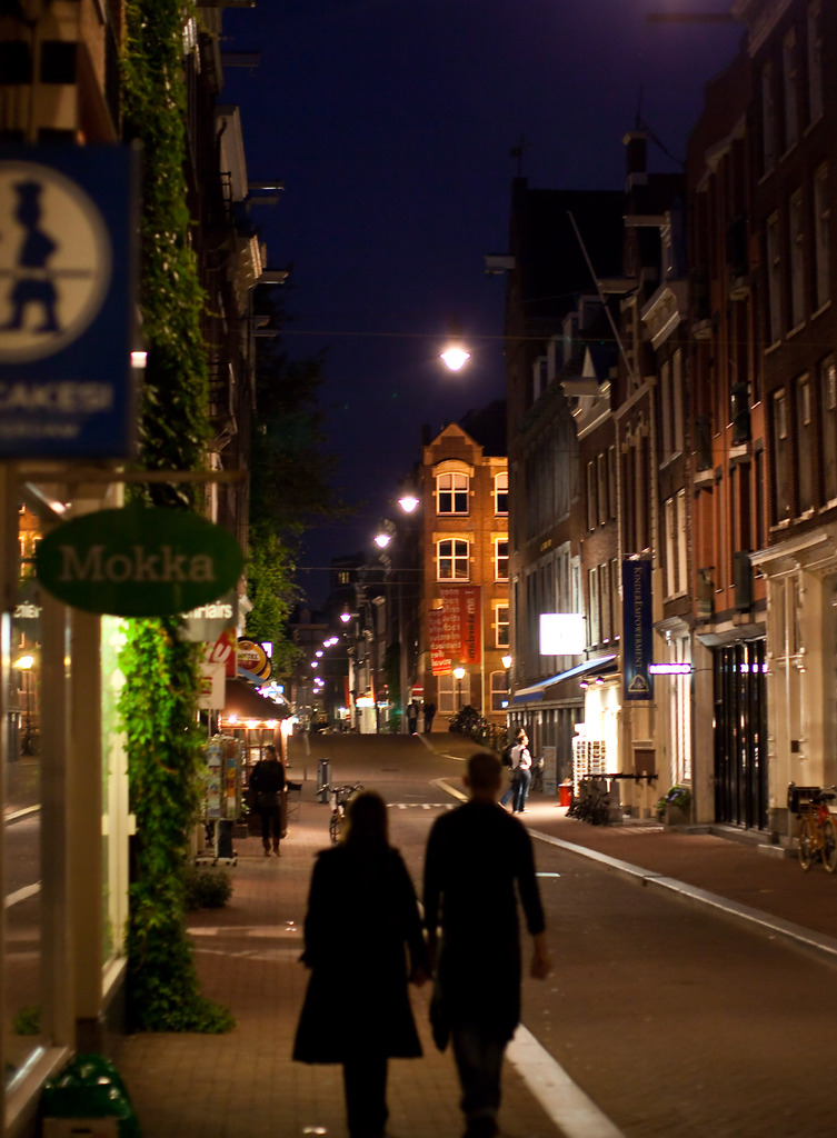 Two of us in the Street of Amsterdam