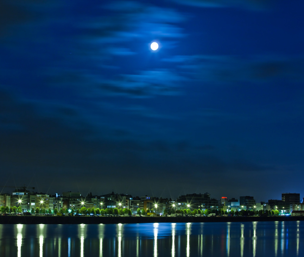 蒼き夏の月夜に