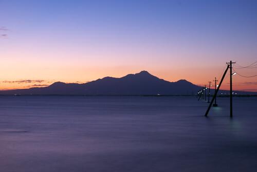 雲仙普賢岳と有明海