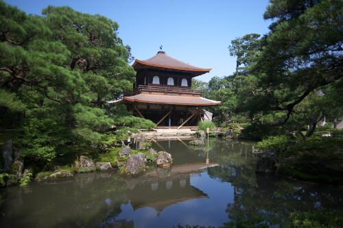 改装中の銀閣寺