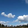 ブルーな空にホワイトな雲