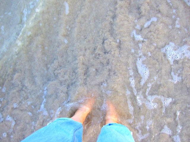 足だけ 海開き