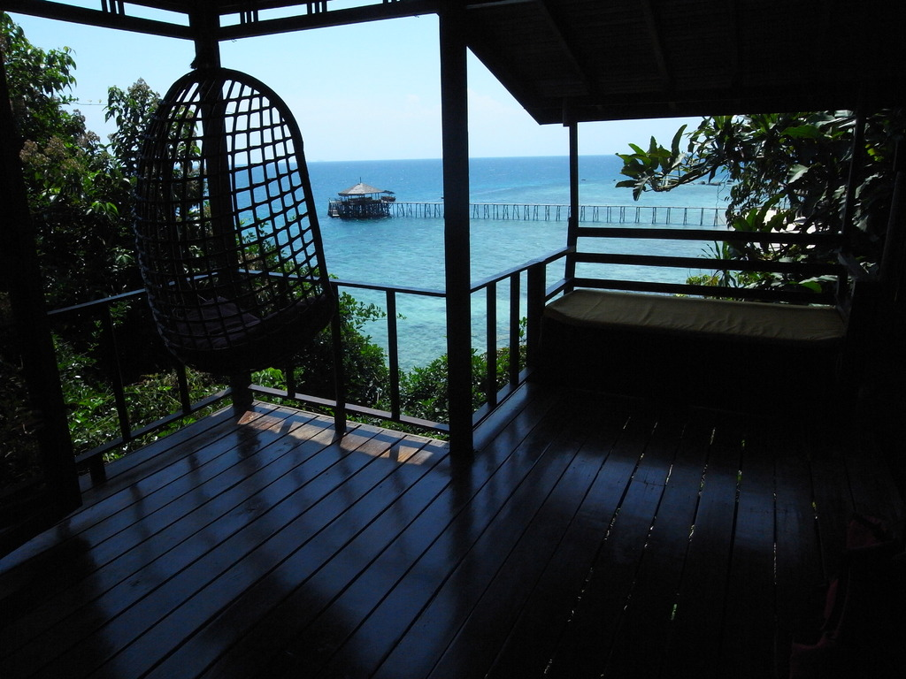 青い海の見える部屋