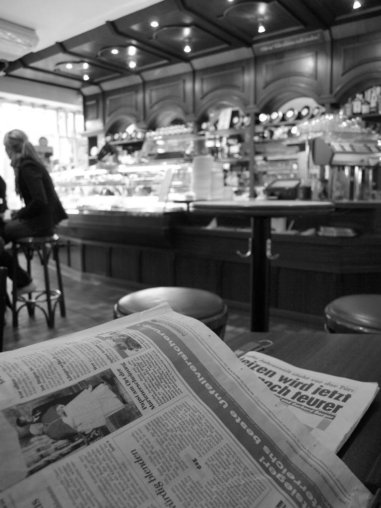 ザルツブルグのカフェ