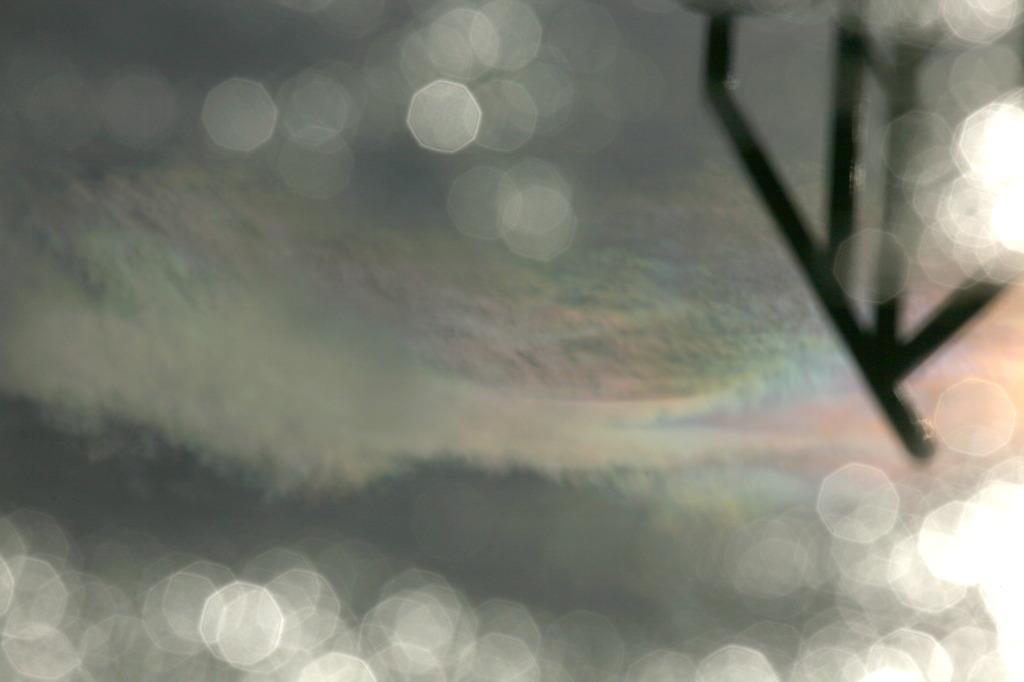 足下に彩雲