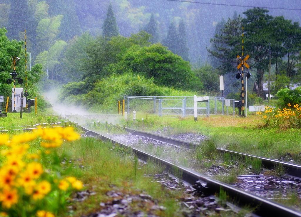 線路からの湯気