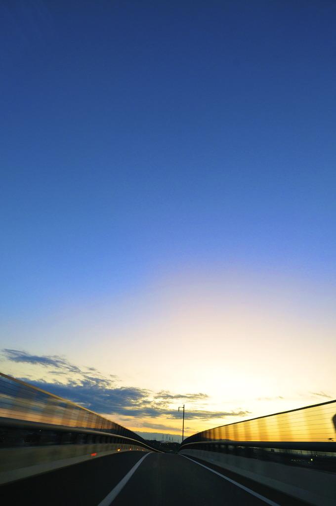 Toward the twilight.