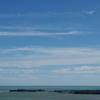 志摩の海・・・岬の灯台が見えるかな。