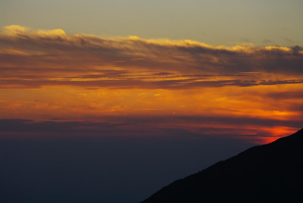 立山室堂の入日 ・・・日没