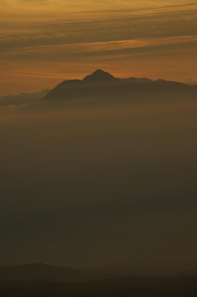 岩木山夕景