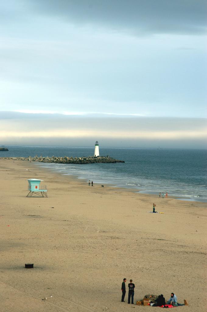 Murky sky and beach