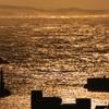 暮れゆく漁港