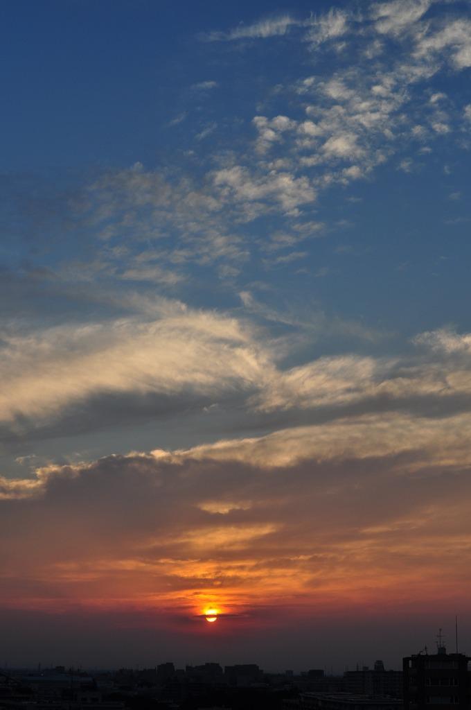昨日の夕陽