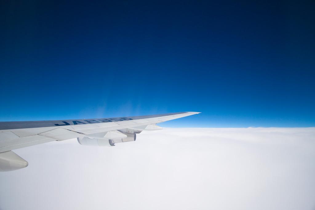 上空1万m
